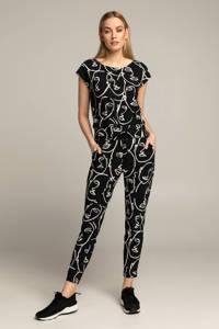 Expresso jumpsuit BFALDO met all over print zwart/wit, Zwart/wit