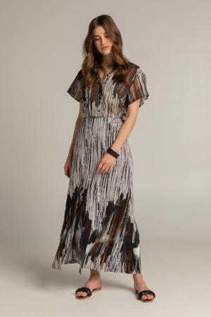 blouse 212GLENDA met all over print zwart