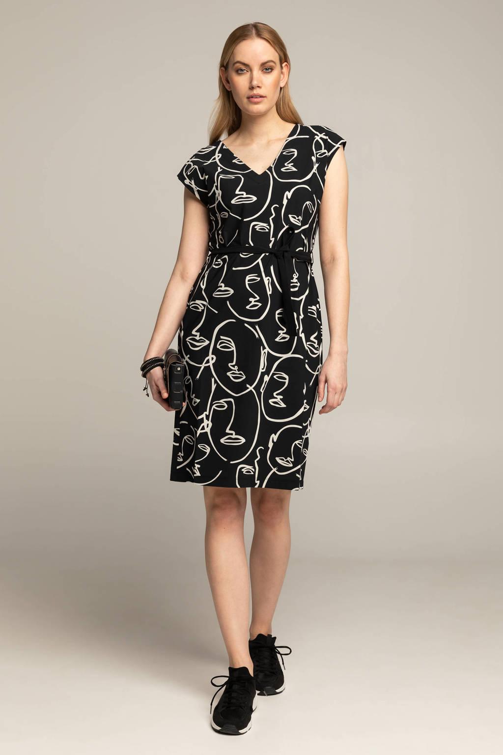 Expresso jurk BFARIKA met all over print zwart/wit, Zwart/wit