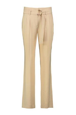 straight fit pantalon GERNANDA beige