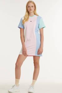 Tommy Jeans T-shirtjurk van biologisch katoen lichtroze, Lichtroze
