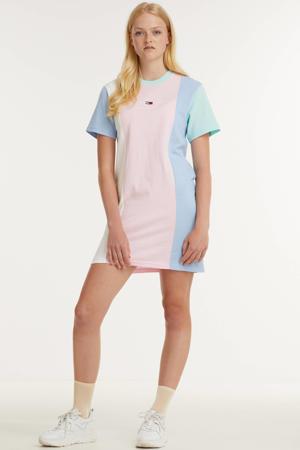 T-shirtjurk van biologisch katoen lichtroze