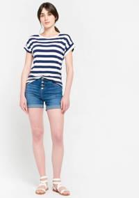 LOLALIZA skinny jeans short blauw, Blauw