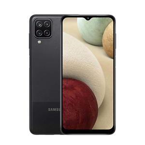 Galaxy A12 128GB (zwart) + Clear Cover