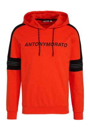 sweater met logo orange