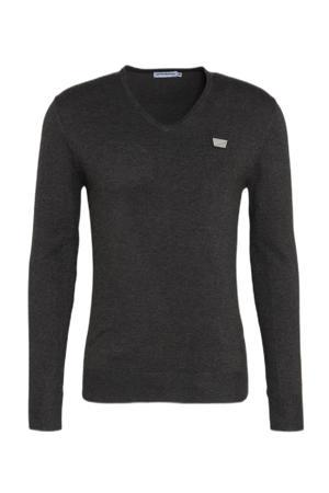 fijngebreide trui dark grey melange