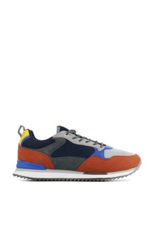 Dusseldorf  suède sneakers oranje/multi