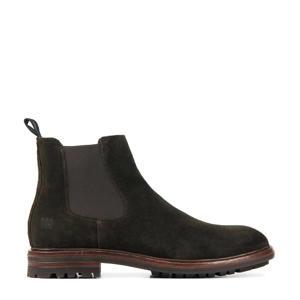 UG23  suède chelsea boots bruin
