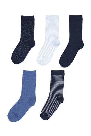 sokken - set van 5 blauw