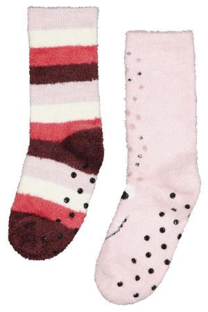 sokken - set van 2 roze