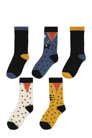 sokken - set van 5 zwart/blauw