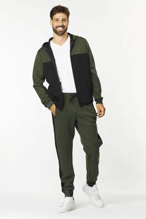 regular fit broek ORLANDO met zijstreep army green