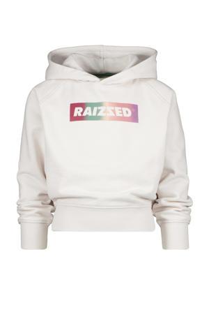 hoodie Galway met logo ecru