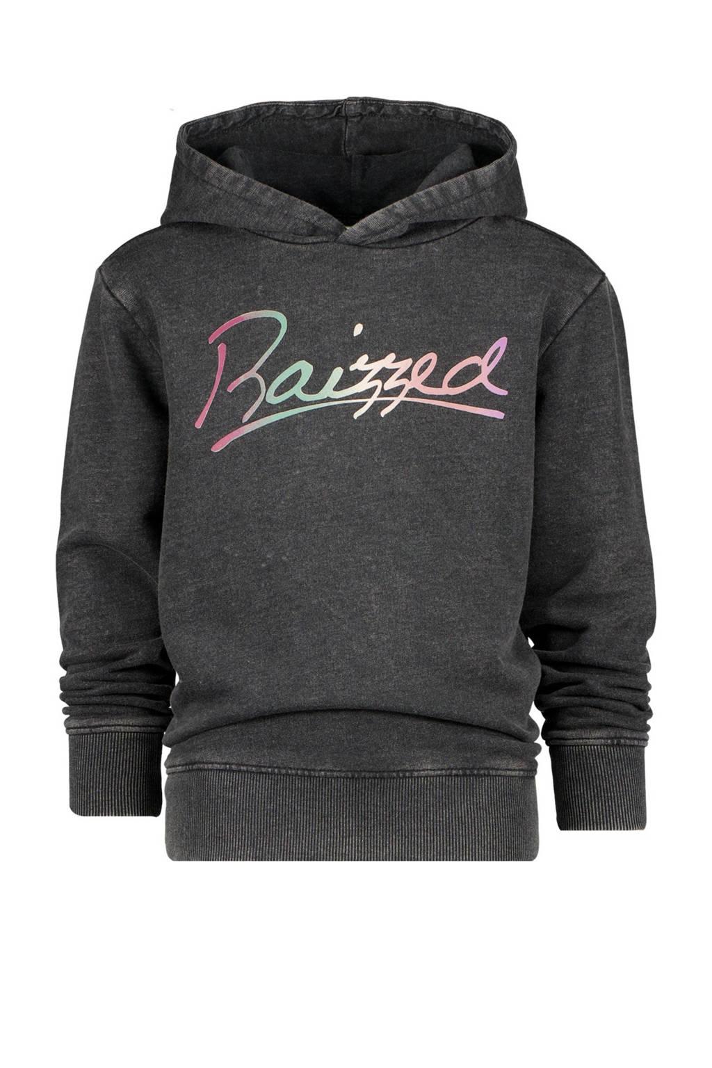 Raizzed hoodie Valencia met logo zwart, Zwart