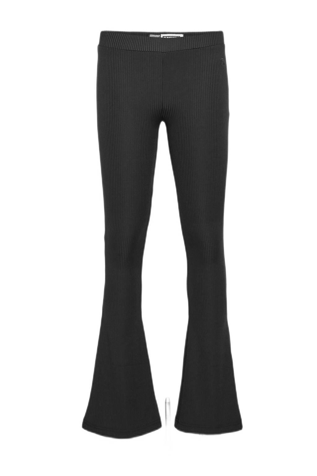 Raizzed flared broek Porto zwart, Zwart