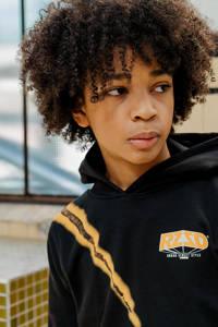 Raizzed hoodie Macau met printopdruk zwart, Zwart