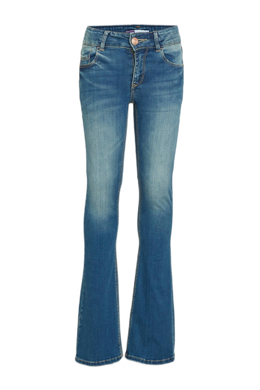 Raizzed flared jeans Melbourne mid blue stone, Mid blue stone