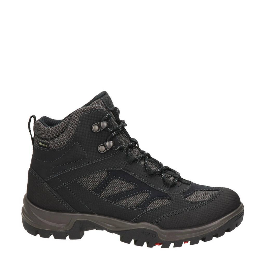 Ecco Xpedition  leren wandelschoenen zwart, Zwart