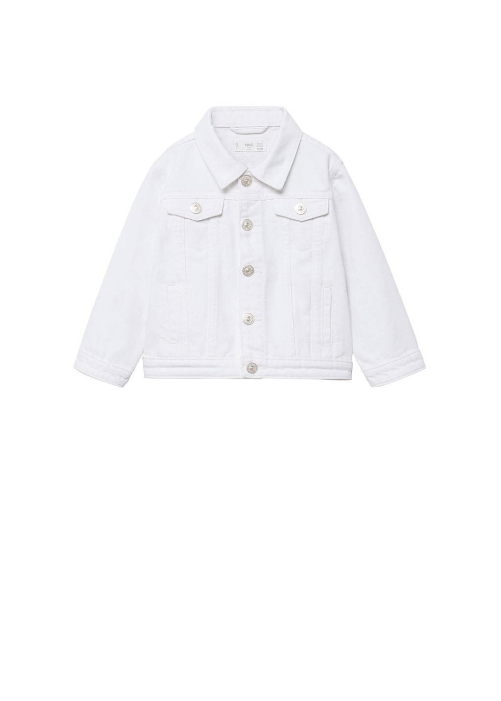 Mango Kids spijkerjas wit, Wit