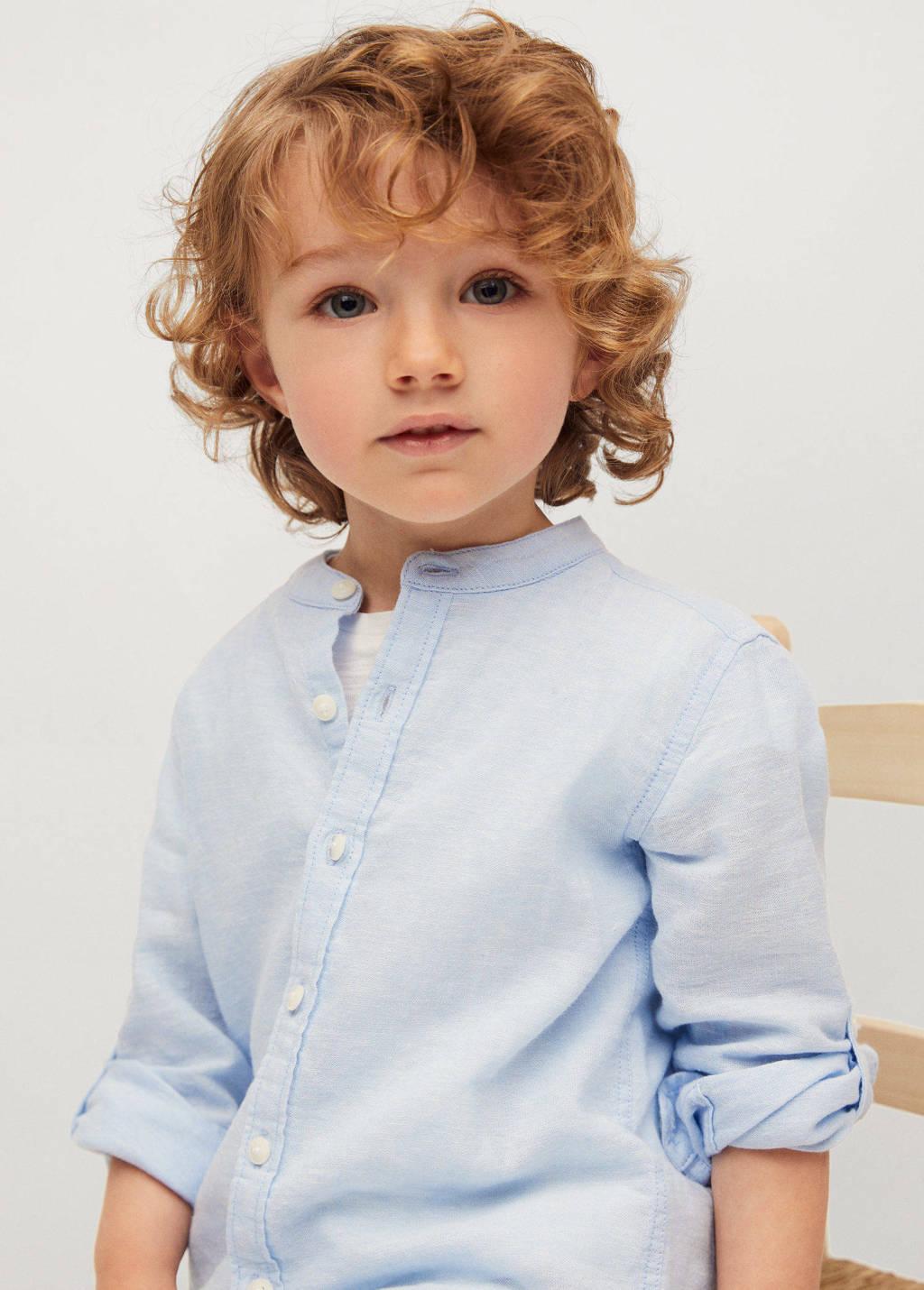 Mango Kids overhemd lichtblauw, Lichtblauw