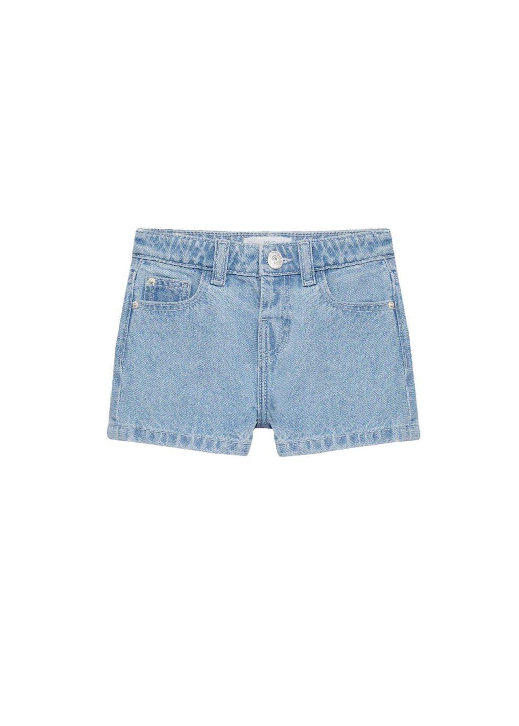 Mango Kids straight fit jeans short light denim, Light denim