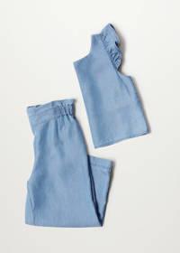 Mango Kids broek blauw, Blauw