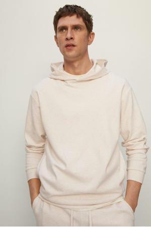gemêleerde hoodie lichtbeige