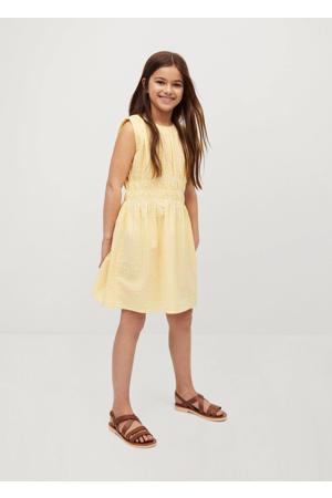 geruite jurk geel/wit