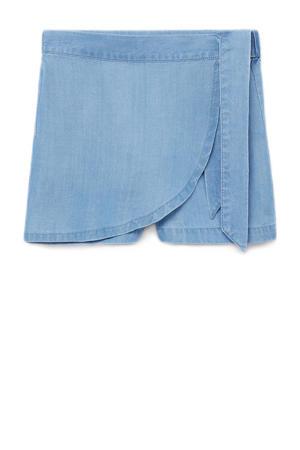 jeans short blauw