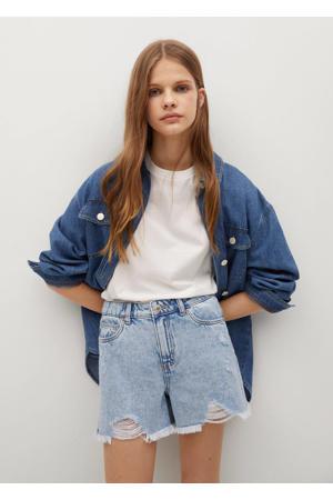 high waist regular fit jeans short light denim