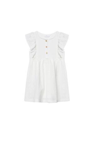 jurk van biologisch katoen wit
