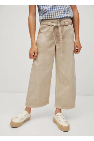 high waist straight fit broek pastelbruin