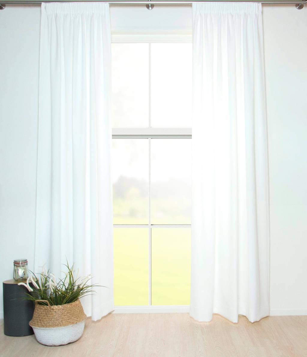 W lichtdoorlatend gordijn kant en klaar (per stuk) (140 x 270 cm), Off White