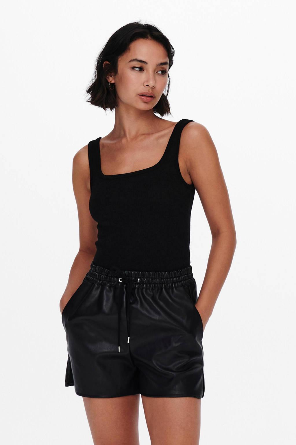 ONLY body Linn zwart, Zwart