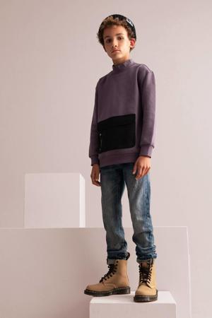 sweater Dean paars/zwart