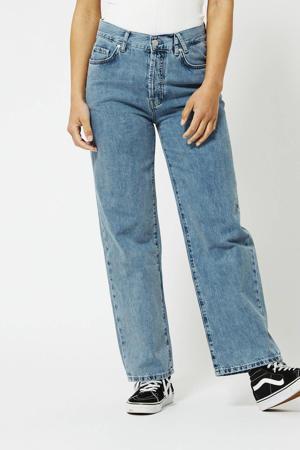 cropped high waist wide leg jeans Jager light denim