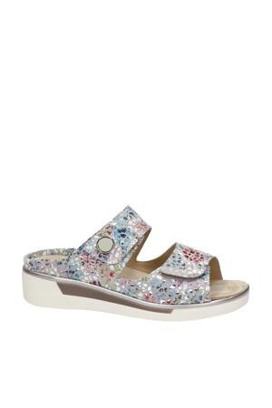 comfort suède slippers grijs/multi