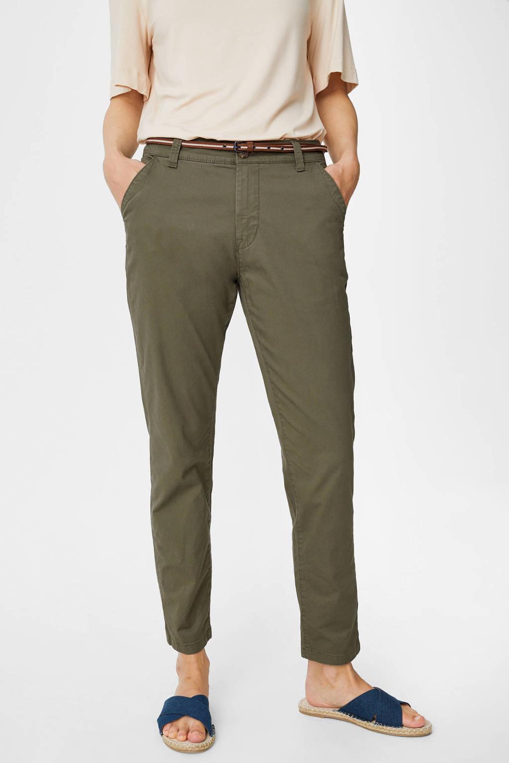 C&A Yessica slim fit broek met biologisch katoen groen, Groen