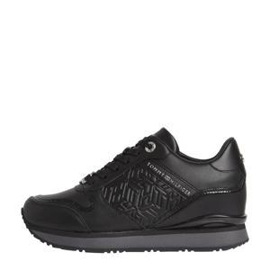 Sady  leren wedge sneakers zwart