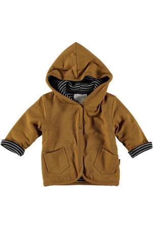 B.E.S.S baby reversible vest bruin/zwart/witt