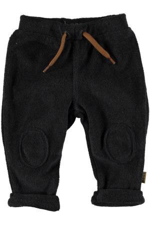 B.E.S.S baby badstof regular fit broek antraciet