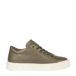 ROCUP BSC M  leren sneakers olijfgroen