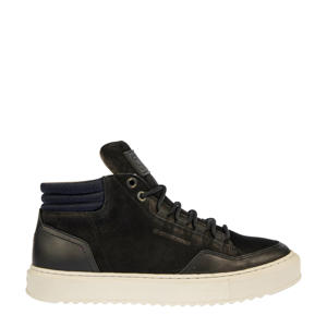RESISTOR MID BSC M  nubuck sneaker zwart