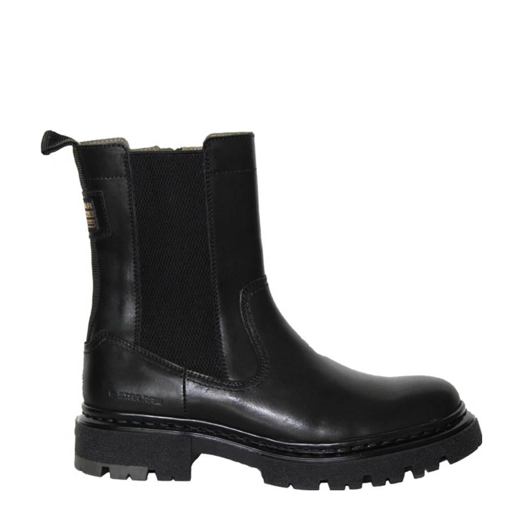 G-Star RAW NAVAL CHS LEA W  hoge leren chelsea boots zwart, Zwart