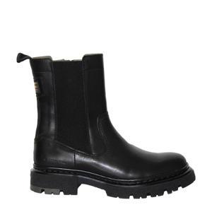 NAVAL CHS LEA W  hoge leren chelsea boots zwart