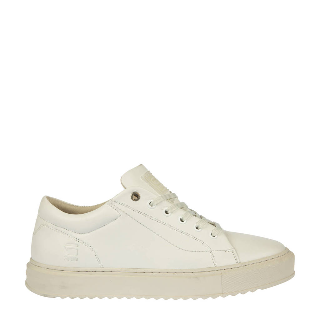 G-Star RAW ROCUP BSC W  leren sneakers off white, Wit/Off white