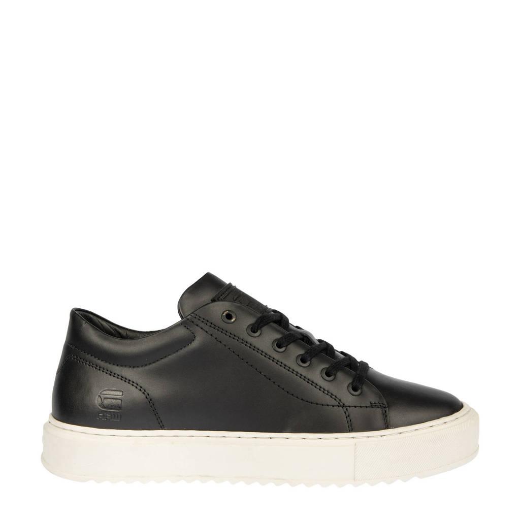G-Star RAW ROCUP BSC M  leren sneakers zwart, Zwart