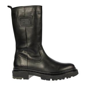 KAFEY HGH LEA W  leren laarzen zwart