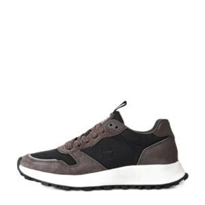 THEQ RUN TNL M  suède sneakers zwart/grijs