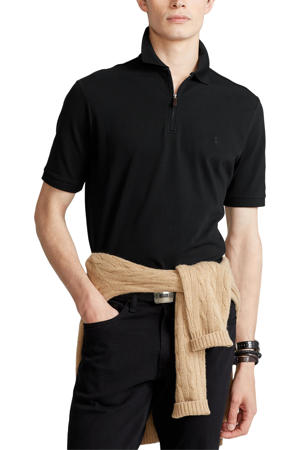 regular fit polo zwart